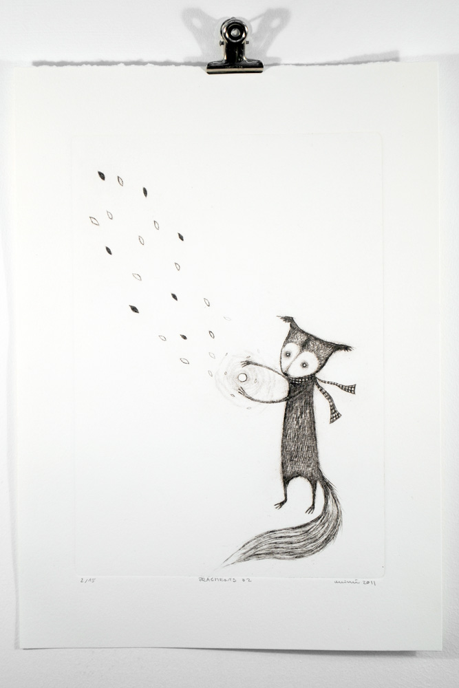 Fragment No.2, Drypoint by minu
