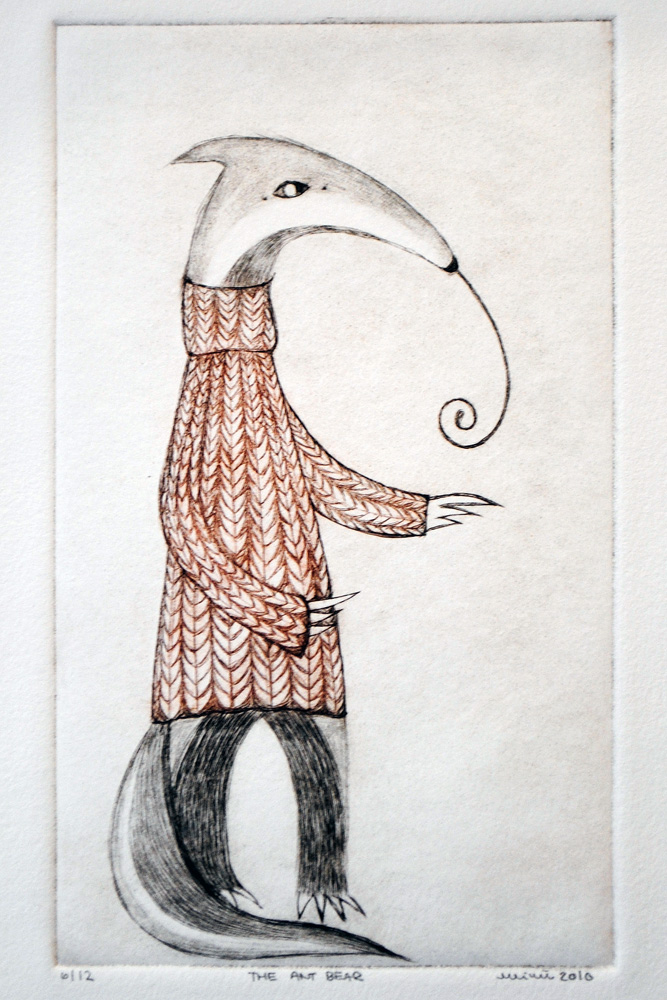 The Antbear (aka Anteater), Drypoint by minu