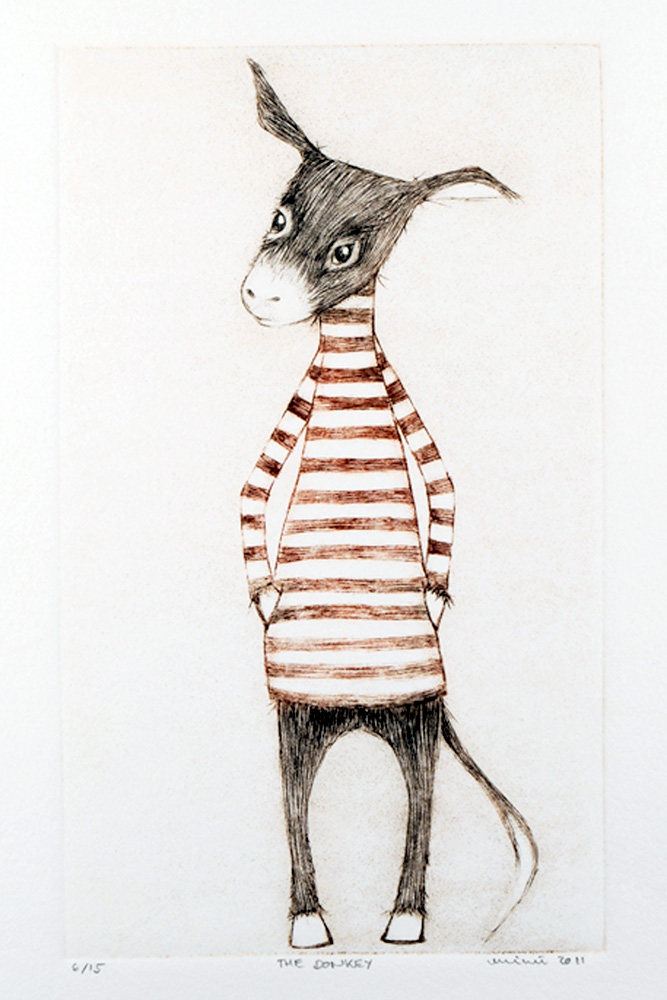 The Donkey, Drypoint by minu