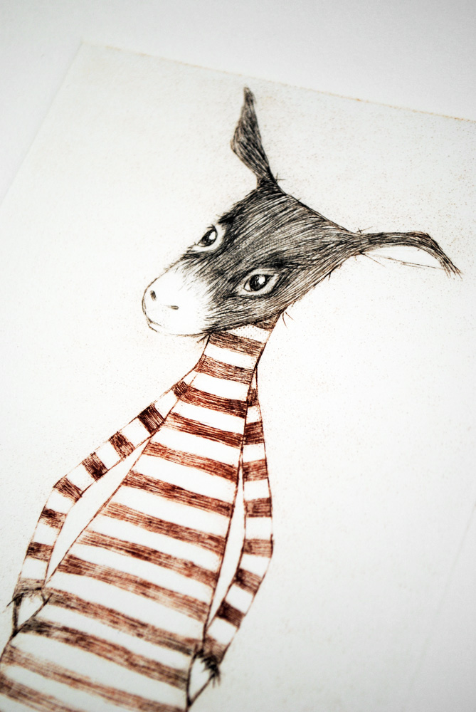 The Donkey Drypoint by minu