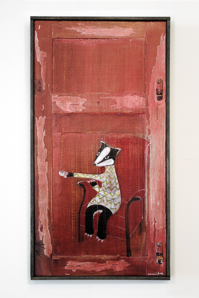 The Badger, painting by minu