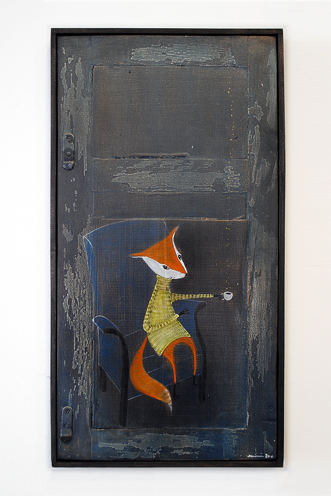 The Fox, painting by minu