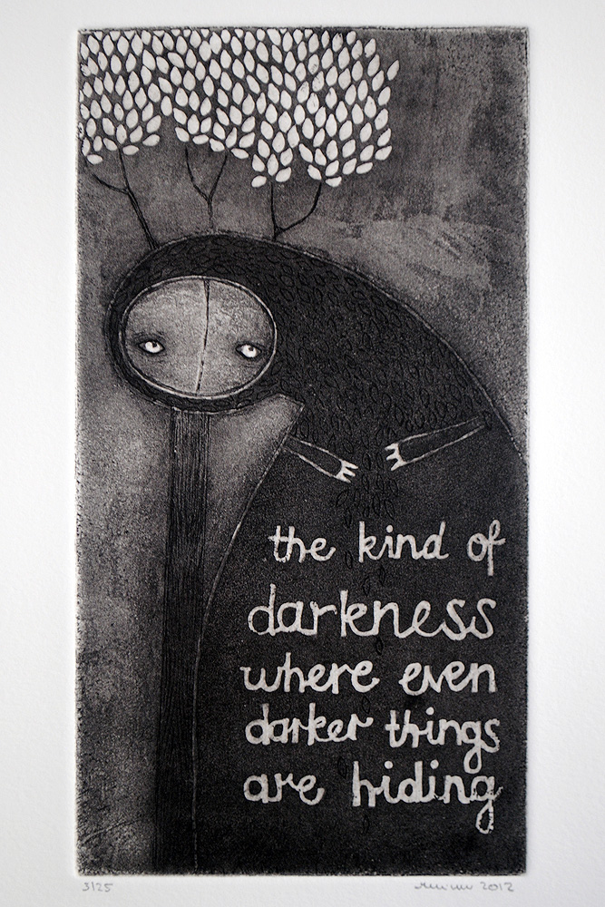 The kind of darkness..., Copper Sulphate Etching by minu