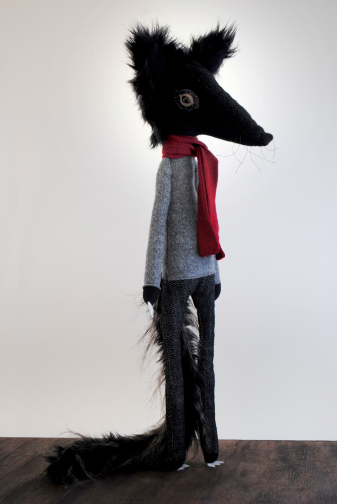 The Wolf, collectable plush by minu
