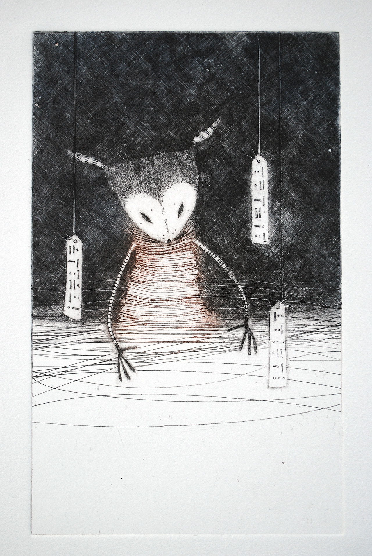 drypoint print by minu