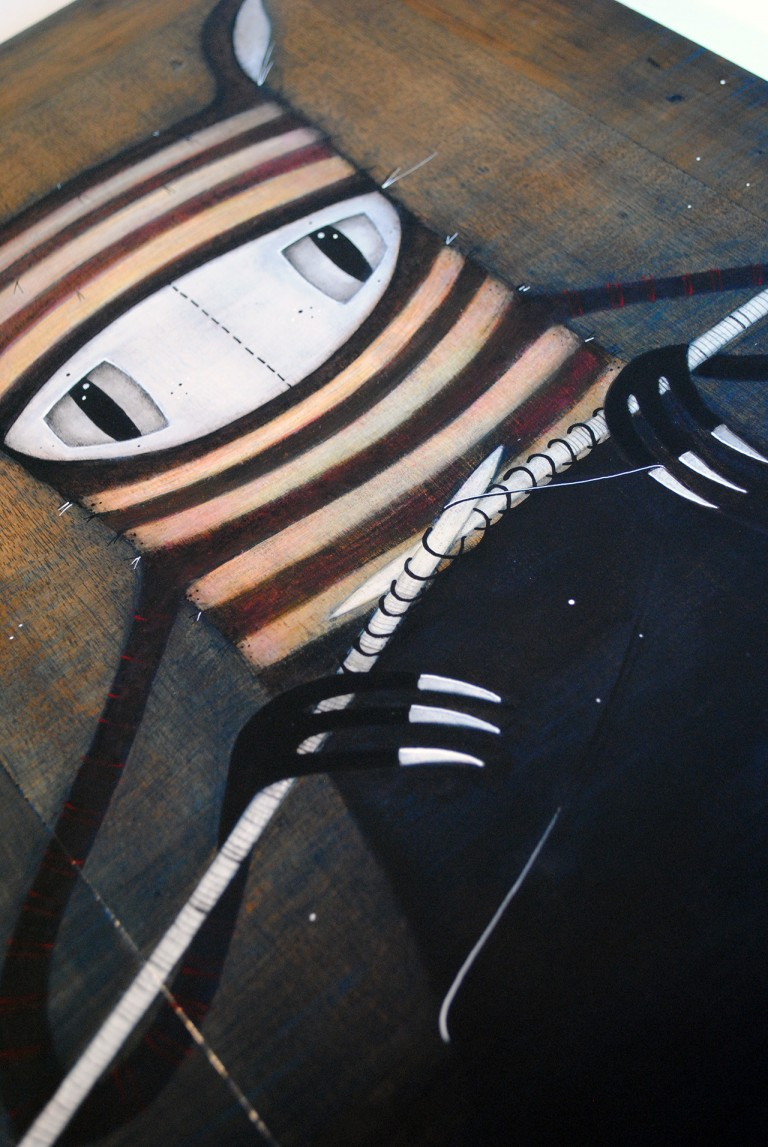 Shadow Scarves #1 - painting by minu